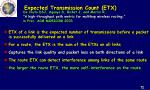 expected transmission count etx