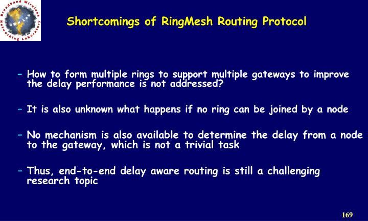 Shortcomings of RingMesh Routing Protocol