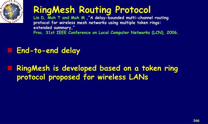 RingMesh Routing Protocol