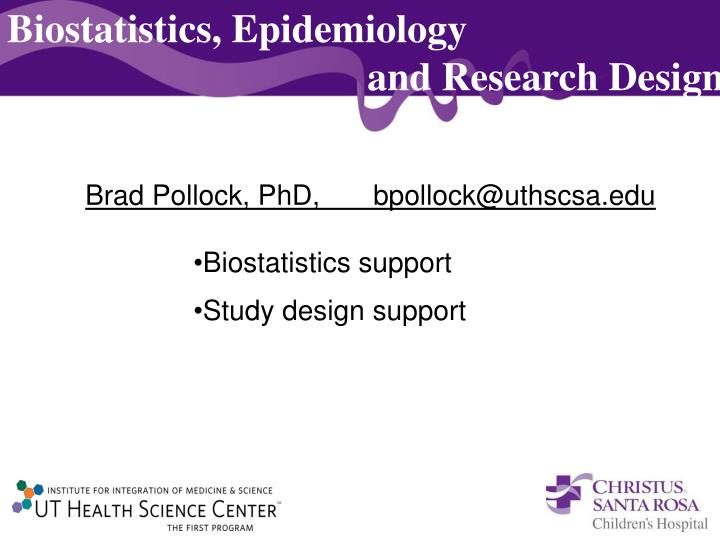 Biostatistics, Epidemiology