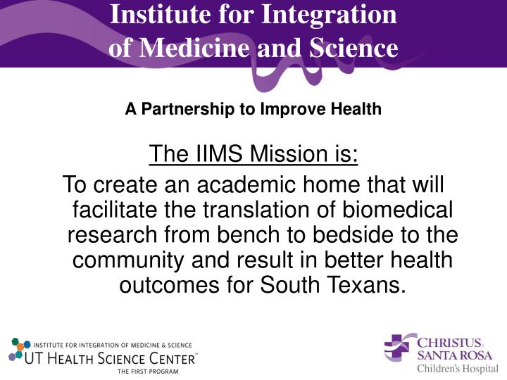 Institute for Integration