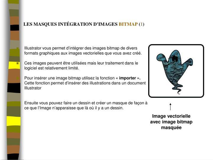 Image vectorielle avec image bitmap masquée