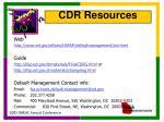 cdr resources