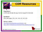 cdr resources1
