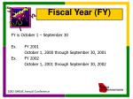 fiscal year fy