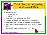 quick steps for appealing your default rate