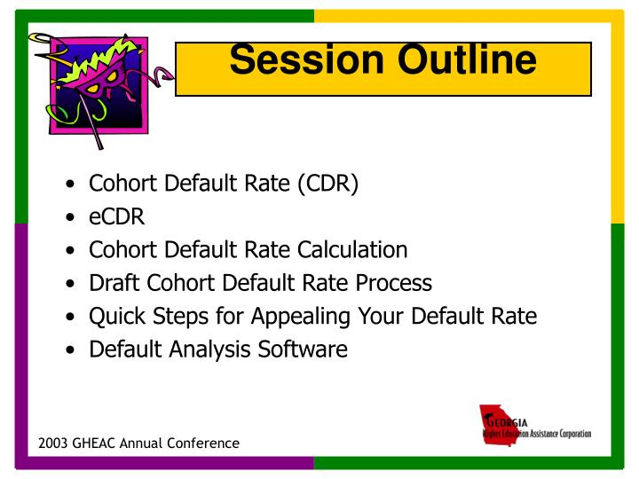 Cohort Default Rate (CDR)