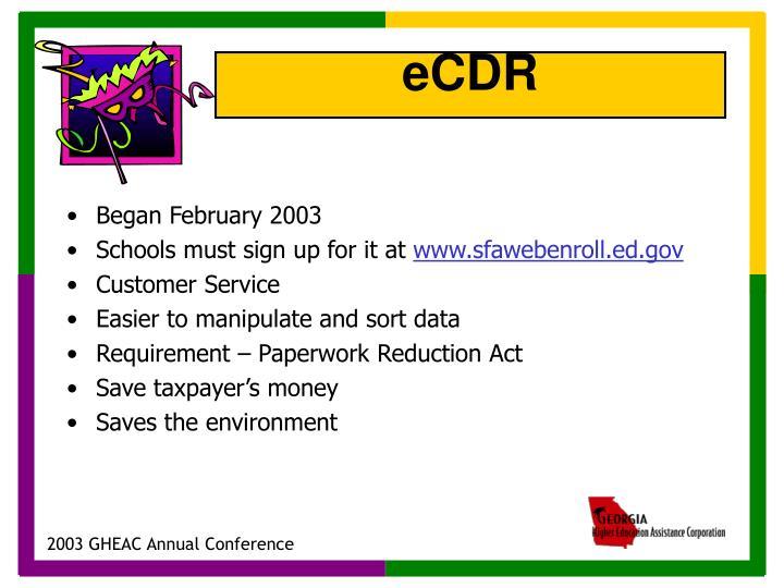 Began February 2003