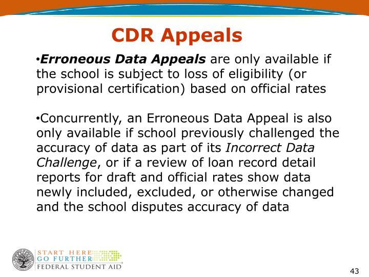 CDR Appeals