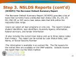step 3 nslds reports cont d2