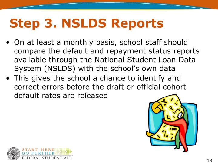 Step 3. NSLDS Reports