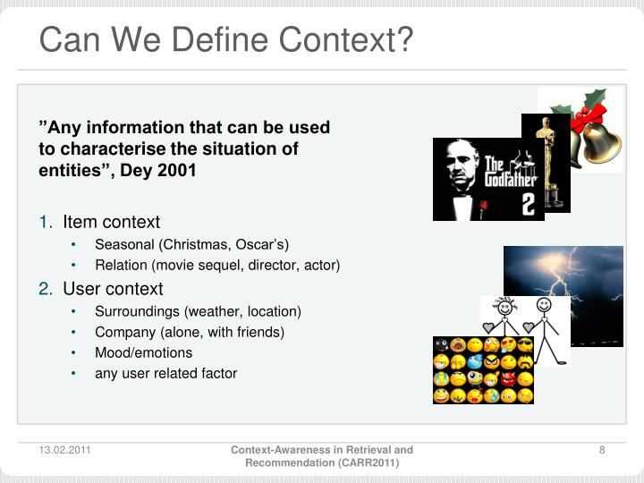 Can We Define Context?