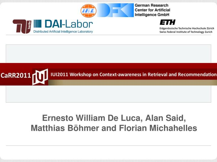 Ernesto william de luca alan said matthias b hmer and florian michahelles