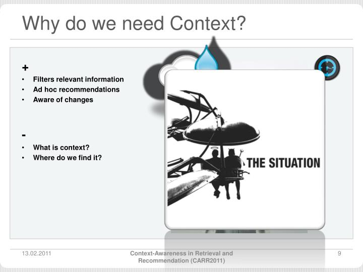 Why do we need Context?