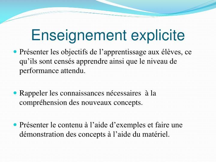 Enseignement explicite