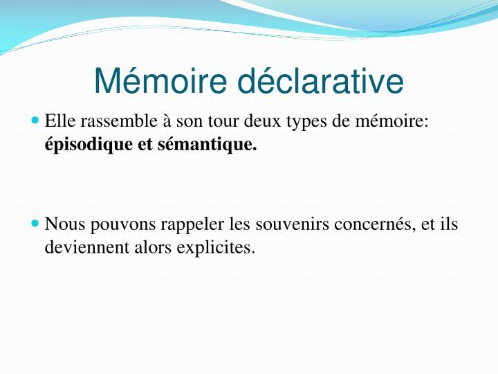 Mémoire déclarative