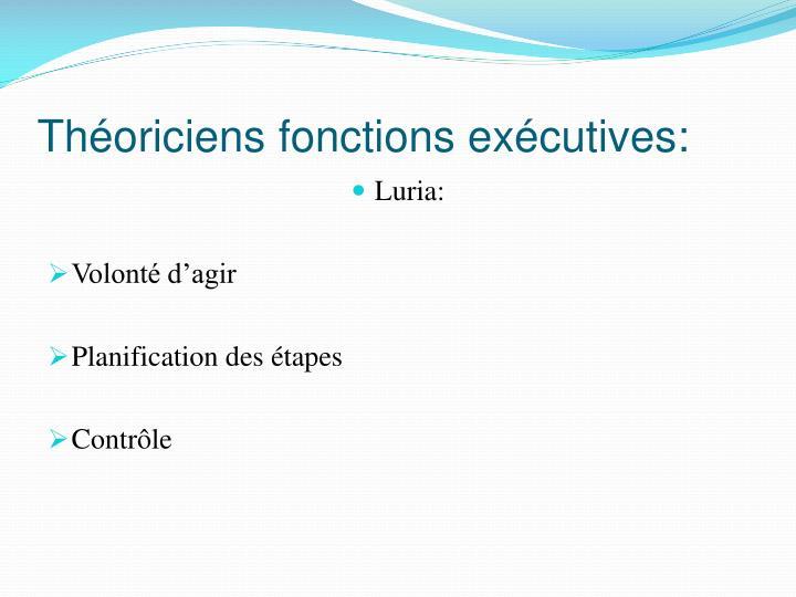 Théoriciens fonctions exécutives: