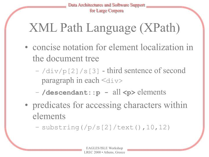 XML Path Language (XPath)