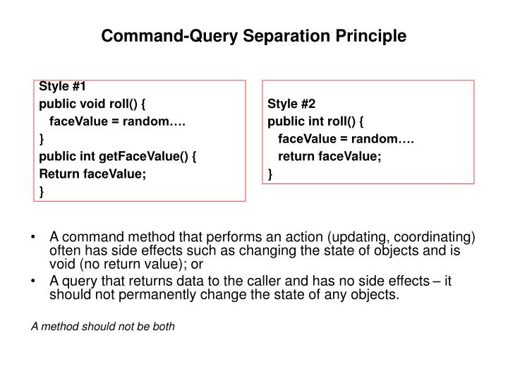 Command-Query Separation Principle