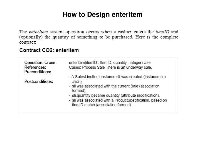 How to Design enterItem