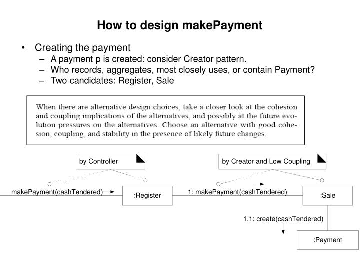 How to design makePayment