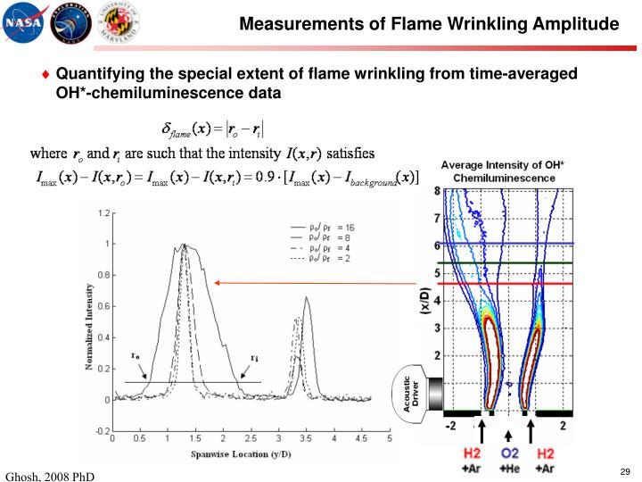 Measurements of Flame Wrinkling Amplitude