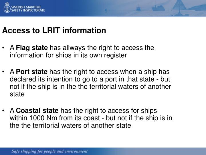 Access to LRIT information