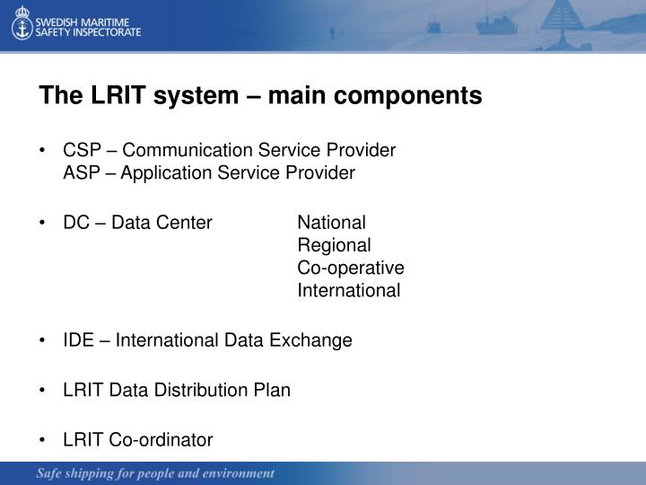 The LRIT system – main components