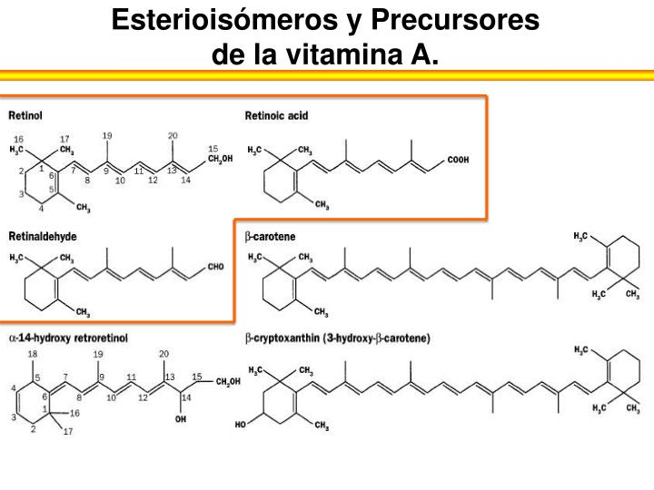 Esterioisómeros y Precursores de la vitamina A.