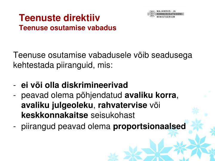 Teenuste direktiiv