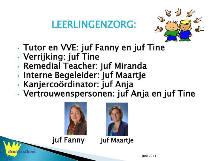 LEERLINGENZORG: