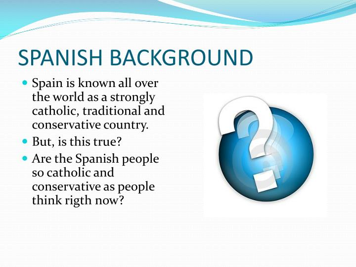 Spanish background