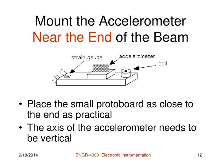 Mount the Accelerometer