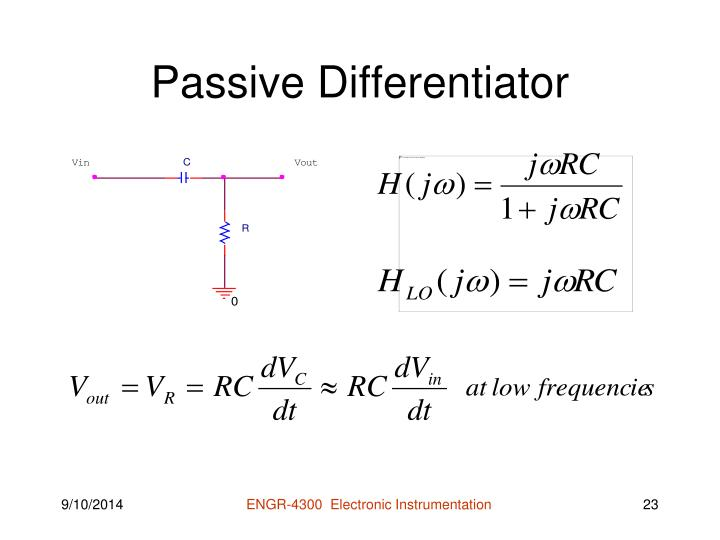 Passive Differentiator