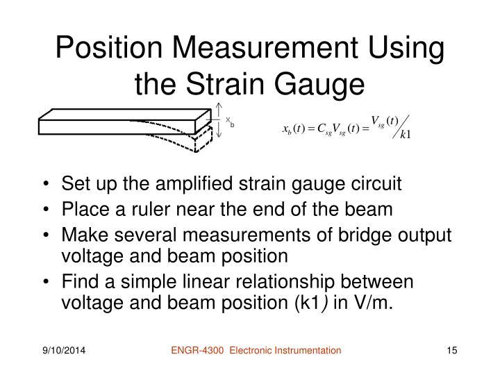 Position Measurement Using the Strain Gauge