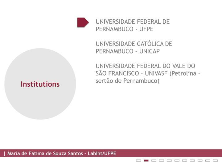 UNIVERSIDADE FEDERAL DE PERNAMBUCO - UFPE