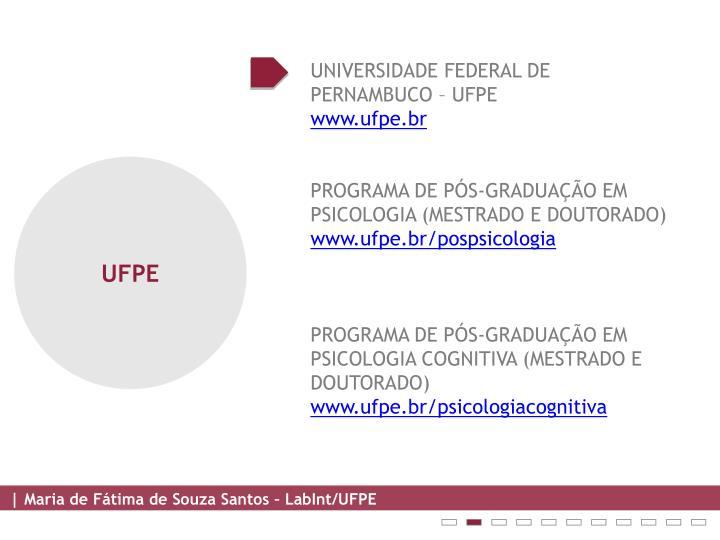 UNIVERSIDADE FEDERAL DE PERNAMBUCO – UFPE