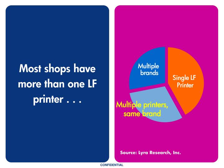Most shops have more than one LF printer . . .