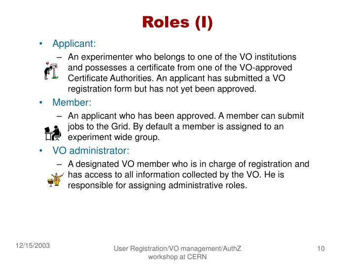 Roles (I)