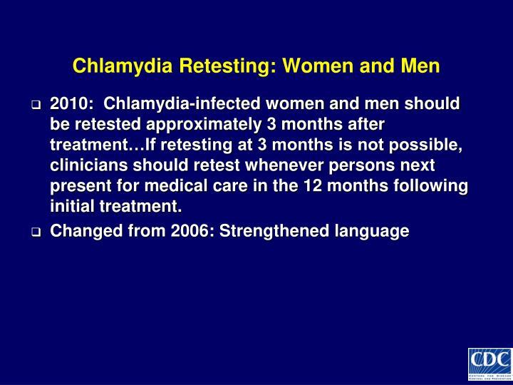 Chlamydia Retesting: Women and Men