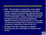 gonorrhea screening among young women
