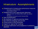 infrastructure accomplishments