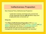 ineffectiveness proposition