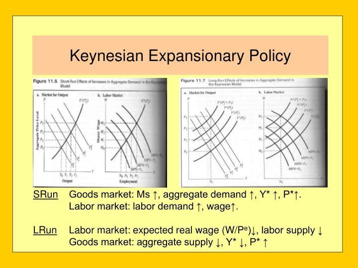 Keynesian Expansionary Policy