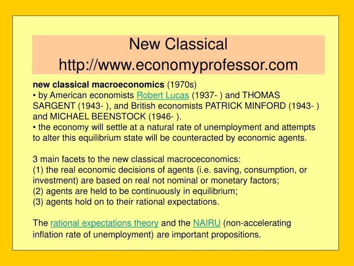 New classical http www economyprofessor com