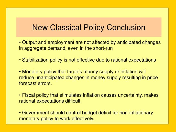 Output and employment are not affected by anticipated changes in aggregate demand, even in the short-run
