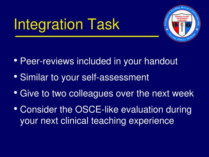 Integration Task