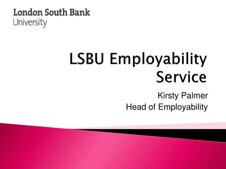 LSBU Employability Service