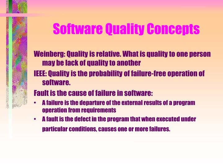 Software Quality Concepts