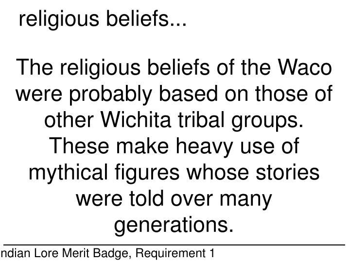 religious beliefs...